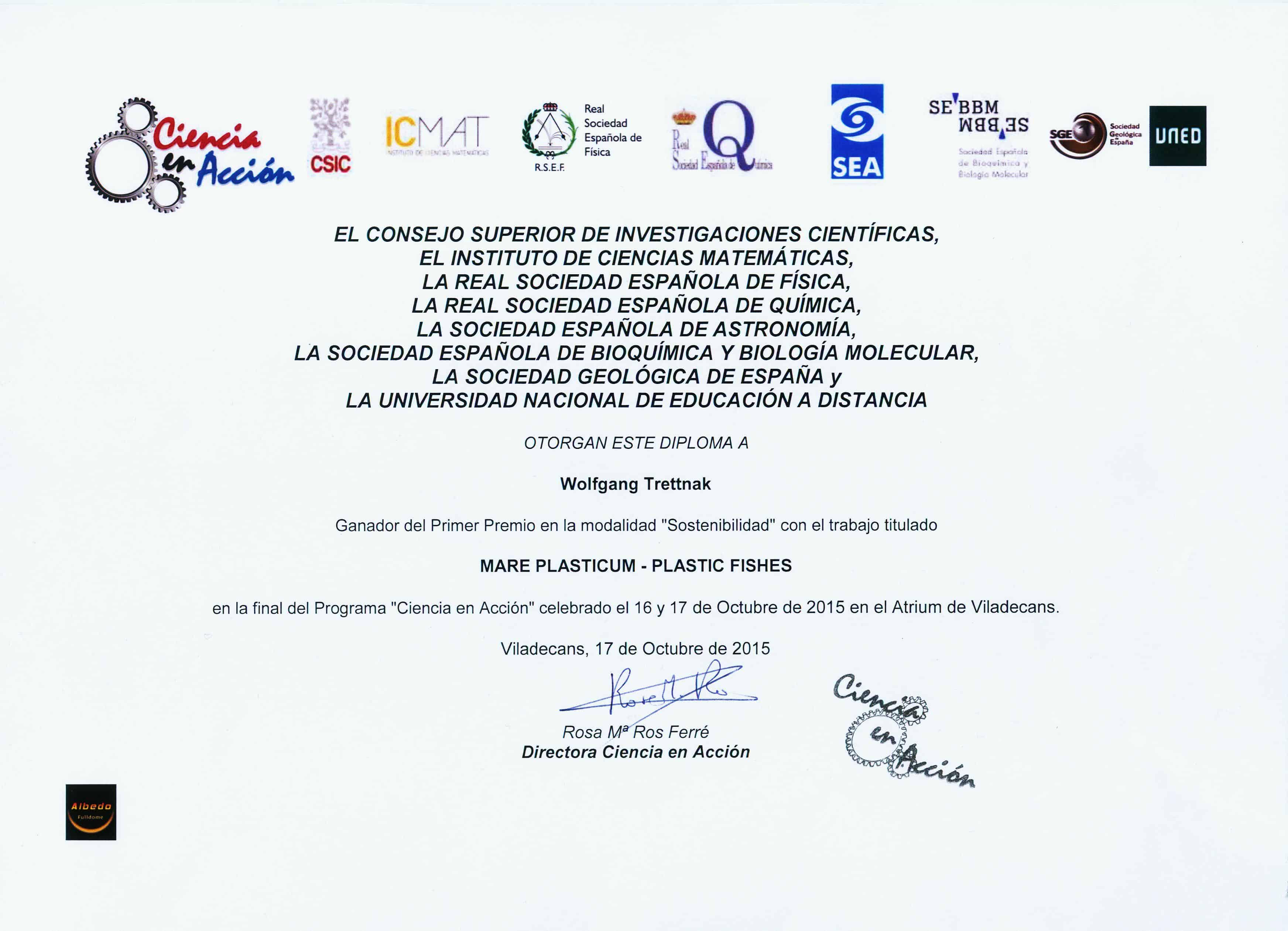 Diploma premio